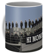 Ailors And Marines Man The Rails Aboard Coffee Mug by Stocktrek Images