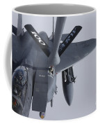 Air Refueling A F-15e Strike Eagle Coffee Mug by Daniel Karlsson