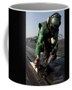 Airman Greases The Catapult Shuttle Coffee Mug