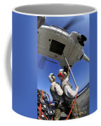 Airmen Attach Pallet Rigs To An Sa-330j Coffee Mug