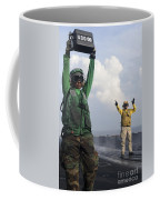 Airmen Communicate To Aircraft Aboard Coffee Mug