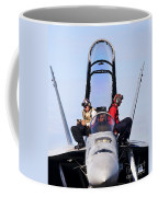 Airmen Perform A Weapons Release Check Coffee Mug
