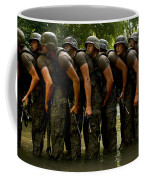 Airmen Stack Up In A Pond Coffee Mug