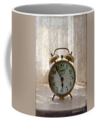 Alarm Clock On Windowsill Coffee Mug