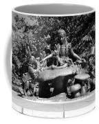 Alice In Wonderland In Central Park In Black And White Coffee Mug