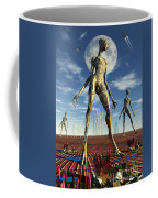 Alien Reptoid Beings Wearing Organic Coffee Mug