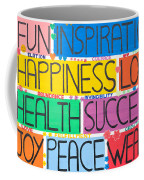 All The Happy Words Coffee Mug
