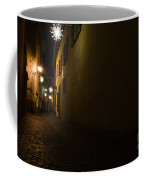 Alley In Night With Lights Coffee Mug