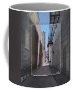Alley With Guy Reading Layered Coffee Mug by Anita Burgermeister