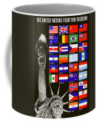 Allied Nations Fight For Freedom Coffee Mug by War Is Hell Store