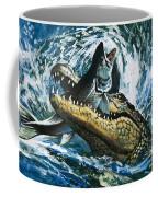 Alligator Eating Fish Coffee Mug