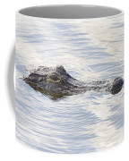 Alligator With Sky Reflections - A Closer View Coffee Mug