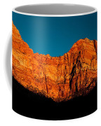 Alpenglow In Zion Canyon Coffee Mug