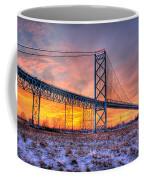 Ambassador Bridge Sunrise 1-16-2012  Detroit Mi Coffee Mug