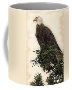 American Bald Eagle In Tree Coffee Mug
