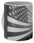 American Flag At Nathan's In Black And White Coffee Mug
