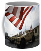 American Flags Are Displayed Coffee Mug