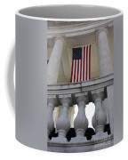 American Flags Hang In The Amphitheatre Coffee Mug