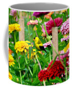 American Goldfinch In The Garden Coffee Mug