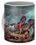 American Prairie Hunters Using Fire Coffee Mug