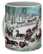 American Winter 1870 Coffee Mug by Photo Researchers