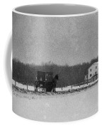 Amish Buggy Black And White Coffee Mug