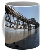 Amtrak Train Riding Atop The Benicia-martinez Train Bridge In California - 5d18830 Coffee Mug