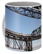 Amtrak Train Riding Atop The Benicia-martinez Train Bridge In California - 5d18835 Coffee Mug