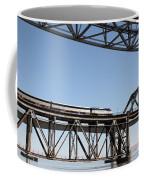 Amtrak Train Riding Atop The Benicia-martinez Train Bridge In California - 5d18837 Coffee Mug