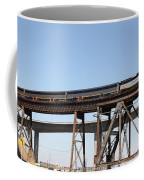 Amtrak Train Riding Atop The Benicia-martinez Train Bridge In California - 5d18839 Coffee Mug