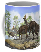 Amurosaurus Riabinini Dinosaurs Grazing Coffee Mug
