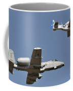 An A-10 Thunderbolt And A P-51 Mustang Coffee Mug