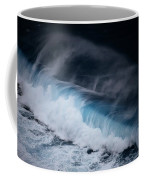 An Aerial View Captures A Large Wave Coffee Mug