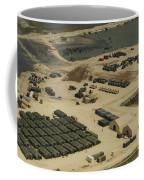 An Aerial View Of The White Beach Coffee Mug