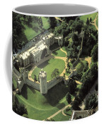 An Aerial View Of Warwick Castle Coffee Mug by Richard Nowitz