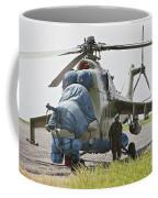 An Afghan Army Soldier Guards A Mi-35 Coffee Mug