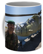 An Afghan Army Soldier Guards An Mi-35 Coffee Mug