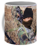 An Afghan Commando On Patrol Coffee Mug by Stocktrek Images