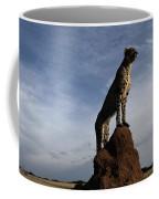 An African Cheetah Guards Its Territory Coffee Mug by Chris Johns