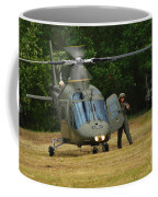 An Agusta A109 Helicopter Coffee Mug by Luc De Jaeger
