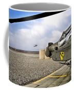 An Ah-64d Apache Helicopter Coffee Mug