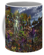 An Alien Being Surveys The Colorful Coffee Mug by Mark Stevenson