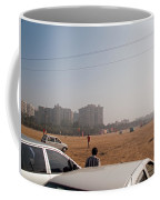 An Almost Empty Parking Lot At Surajkand Fair In India Coffee Mug