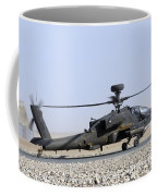 An Apache Helicopter Prepares Coffee Mug