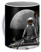 An Astronaut Takes A Last Look At Earth Coffee Mug