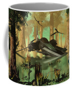 An Astronaut Wades Coffee Mug