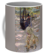 An August Afternoon At The Luxembourg Coffee Mug by Henri-edmond Cross