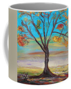 An Autumn Locust Tree Coffee Mug