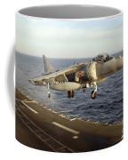 An Av-8b Harrier II Prepares To Land Coffee Mug by Stocktrek Images