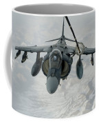 An Av-8b Harrier Receives Fuel Coffee Mug